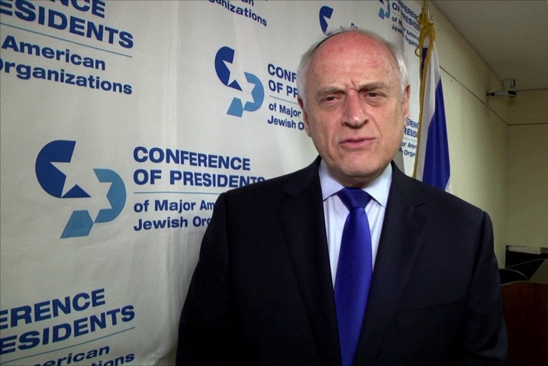 Malcolm Hoenlein, CEO of the Conference of Presidents of Major American Jewish Organizations [Screengrab / Youtube]