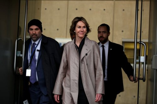 The United States Ambassador to the United Nations Kelly Craft leaves the lunch which held by Donald Trump's son-in-law and Senior Advisor Jared Kushner for representatives of the United Nations Security Council (UNSC), at the Permanent Mission of the United States in New York, United States on 6 February 2020. [Tayfun Coşkun - Anadolu Agency]
