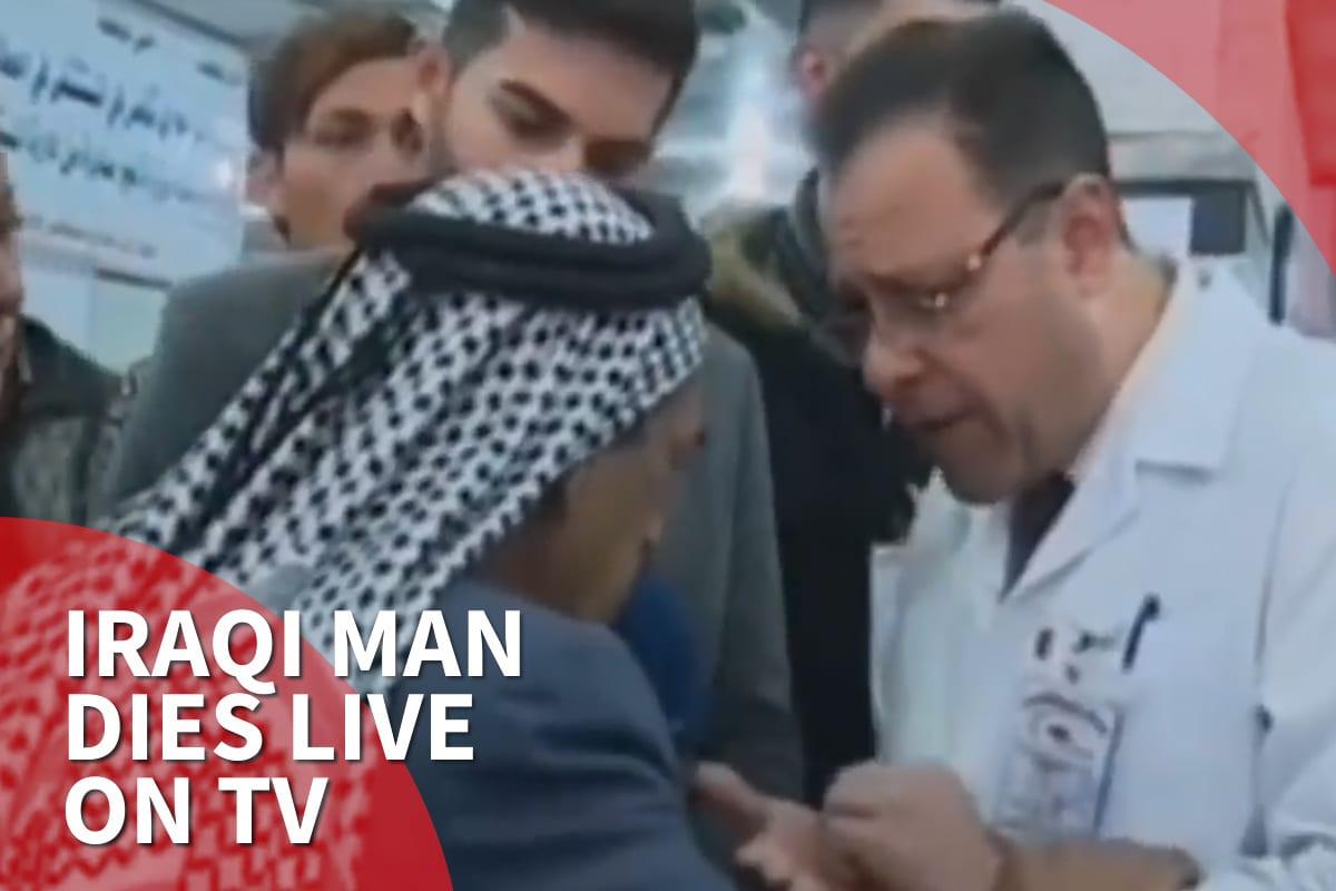 thumbnail: Iraqi man dies live on TV