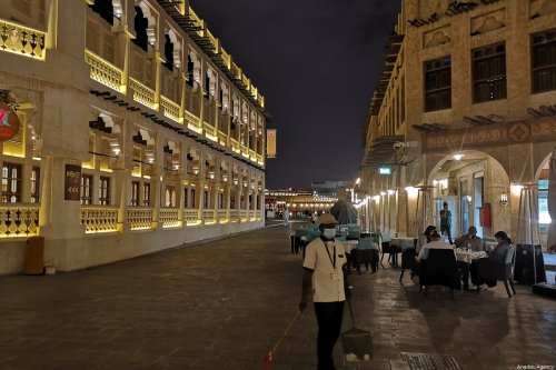 Few people are seen at Souq Waqif as precaution against coronavirus (COVID-19) in Doha, Qatar on March 14, 2020. Qatar reported 17 new coronavirus cases on Saturday, taking the total infections to 337, according to the health ministry [Serdar Bıtmez - Anadolu Agency]