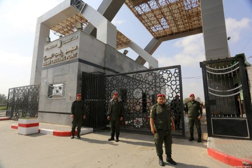 A view of the Rafah Crossing Point after it closed as part of the measures against coronavirus (COVID-19), in Rafah, Gaza on 15 March 2020 [Abed Rahim Khatib/Anadolu Agency]