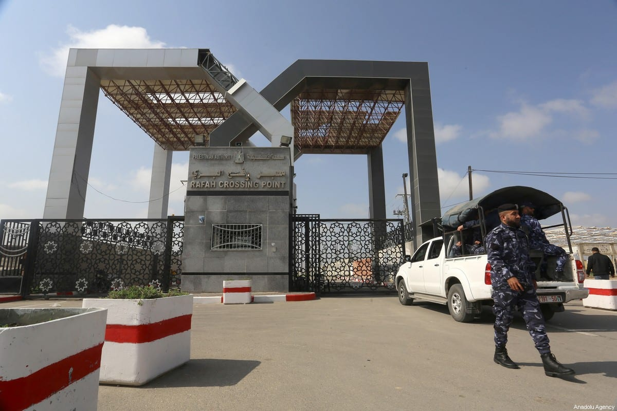 A view of Rafah Crossing Point after it closed for passings as part of the measures against coronavirus (COVID-19), in Rafah, Gaza on 15 March 2020. [Abed Rahim Khatib - Anadolu Agency]