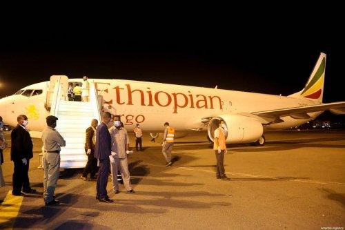 Ethiopian Airline at Khartoum International Airport in Sudan on 23 March 2020 [Mahmoud Hjaj/Anadolu Agency]
