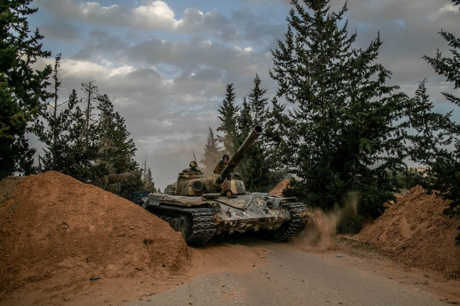 """Libyan Army forces attend """"Operation Peace Storm"""" of the Libya's Government of National Accord (GNA) against the forces of warlord Khalifa Haftar in Tripoli, Libya on 27 March 2020. [Amru Salahuddien - Anadolu Agency]"""