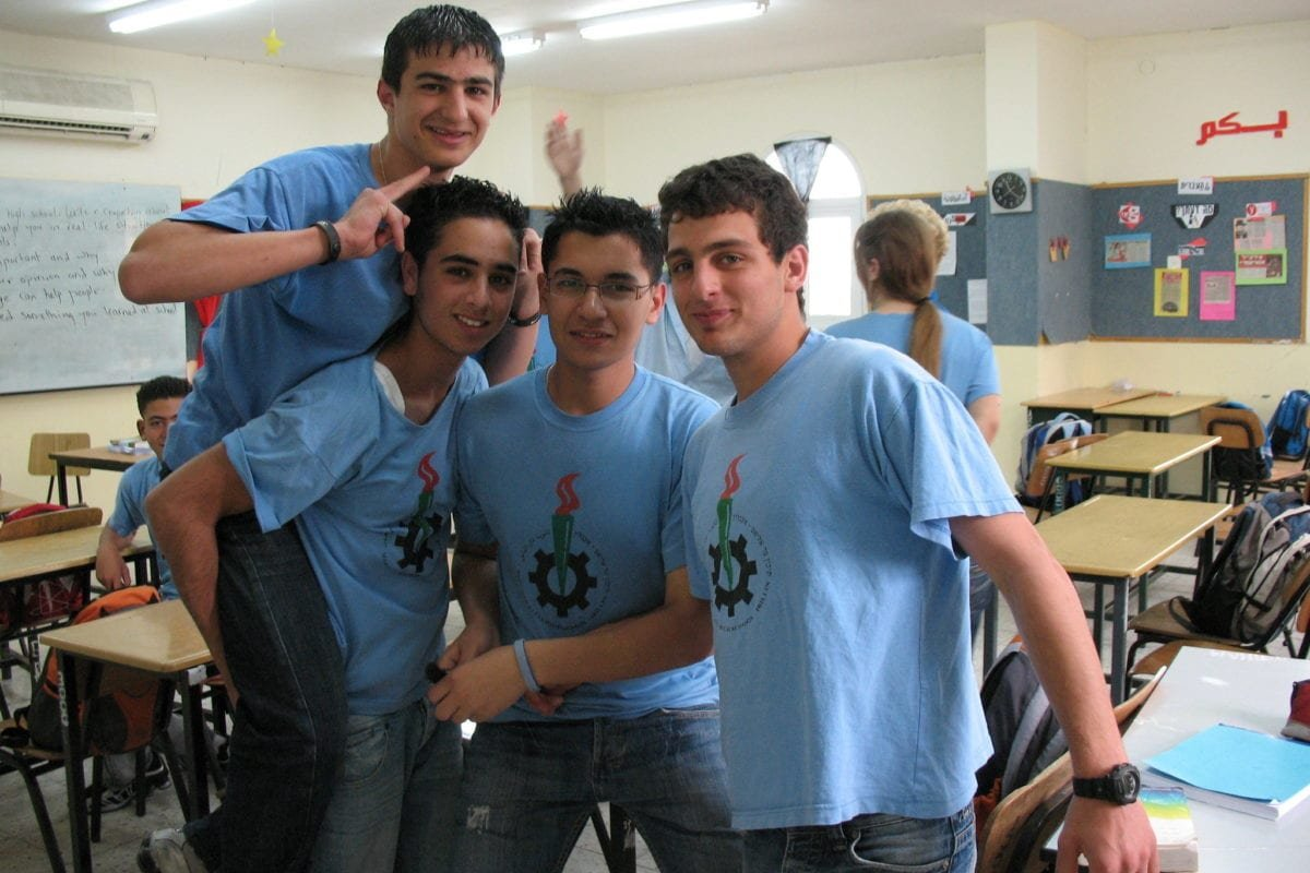 Mar Elias High School students seen in their classroom in Ibillin, Israel, on May 3, 2007 [James Emery / Flickr]