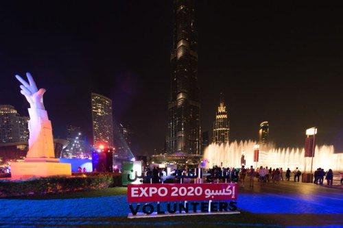 Expo 2020 Dubai celebrates 2 Years To Go through a specially choreographed show of the Dubai Fountain and countdown on the Burj Khalifa at Burj Park on 20 October 2018 in Dubai, United Arab Emirates. [Cedric Ribeiro/Getty Images]