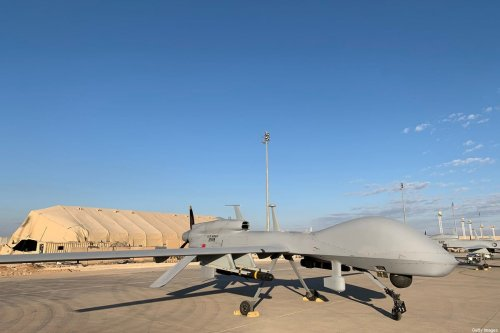 US army drones at the Ain al-Asad airbase in the western Iraqi province of Anbar [AYMAN HENNA/AFP via Getty Images]