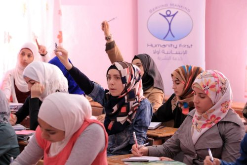 A classroom in Amman, Jordan, 18 March 2020 [Humanity First UK/Twitter]