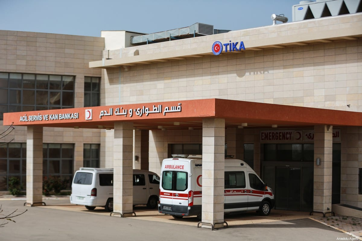Palestine-Turkey Friendship Hospital built by Turkish Cooperation and Coordination Agency (TIKA) is transferred to Palestinian officials on the instruction of Turkish President Recep Tayyip Erdogan to battle coronavirus (Covid-19) outbreak in Gaza City Gaza on March 30, 2020 [Ali Jadallah / Anadolu Agency]