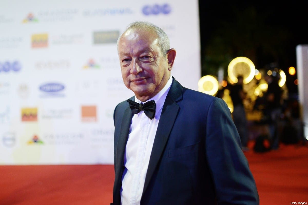 Egyptian businessman Naguib Sawiris takes to the red carpet at the closing ceremony of the 2nd El Gouna Film Festival on 28 September 2018 in Hurghada, Egypt [Jonathan Rashad/Getty Images]