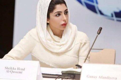 Princess Hend Al-Qassimi of the UAE, 18 April 2020 [Ittefaque Khan/Facebook]que Khan/Facebook}