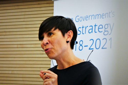 Norway's Foreign Minister Ine Eriksen Søreide on 23 May 2018 [Mission of Norway to the EU/Flickr]