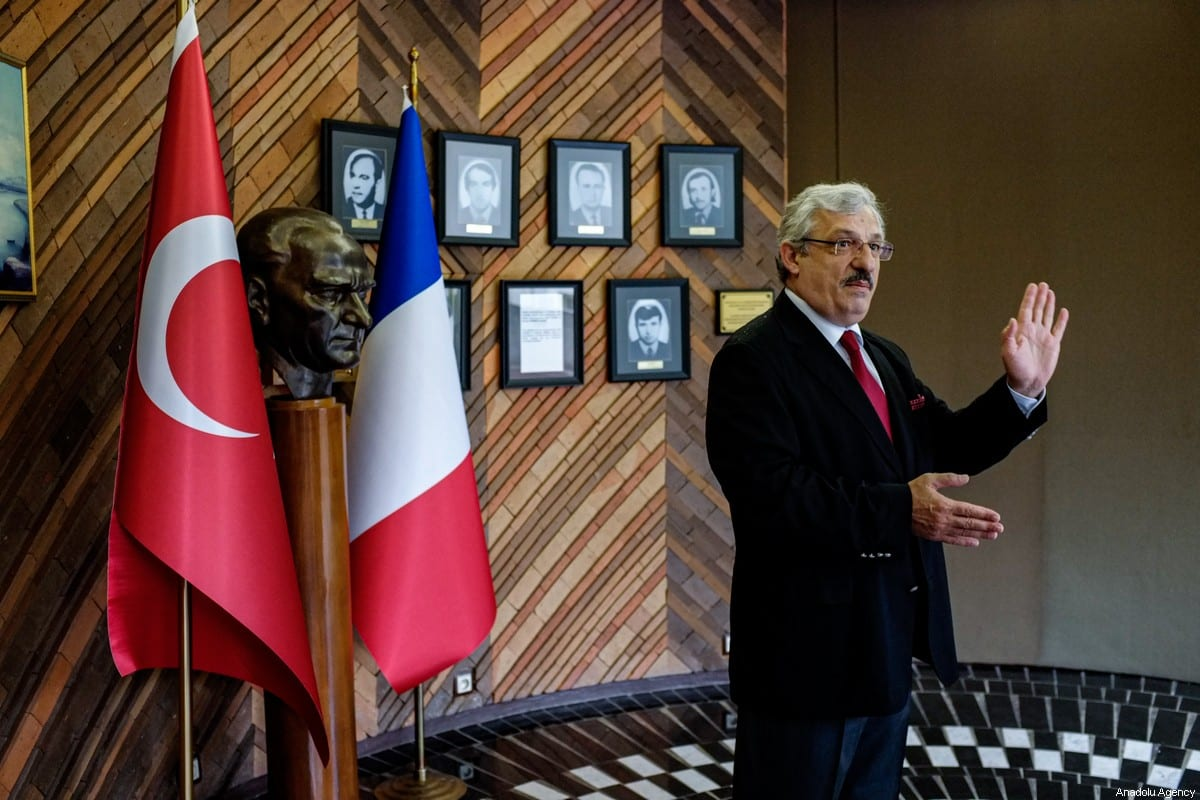The Ambassador of the Republic of Turkey in France, Ismail Hakki Musain in Paris on 29 April 2020. [Julien Mattia - Anadolu Agency]