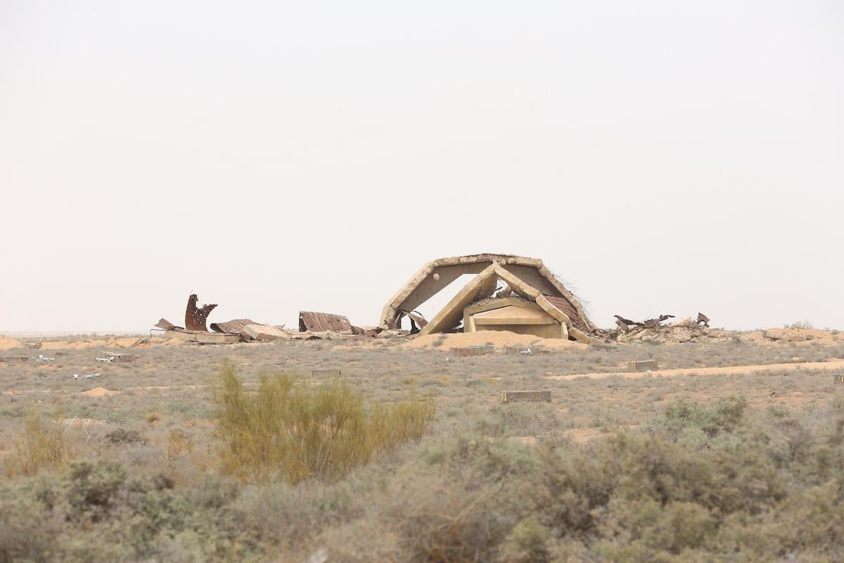 A view of Al-Watiya airbase, previously occupied by Khalifa Haftar's militias, is seen after Libyan army retook it within 'Volcano of Rage' Operation in Tripoli, Libya on May 18, 2020 [Hazem Turkia / Anadolu Agency]