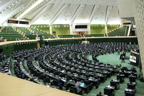 A general view of the first official session of 11th round of the Iranian parliament after its opening ceremony in Tehran, Iran on 27 May 2020. [Fatemeh Bahrami - Anadolu Agency]