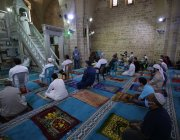 Worshippers were socially distanced and did not pray side by side as would be the norm. 23 May 2020 marked the last Friday in Ramadan [Mohammed Asad/Middle East Monitor]