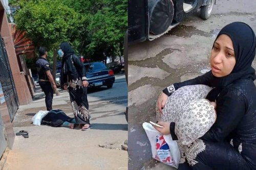 Egyptian woman infected with COVID-19 lying on the ground after hospitals refused to treat her [Twitter]