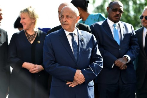 Aguila Saleh Issa, President of the Libyan House of Representatives attends the Conference for Libya at Villa Igiea on November 13, 2018 in Palermo, Italy. Heads of State, ministers and special envoys are holding a two day meeting where they will discuss about security and stability in Libya [Tullio Puglia/Getty Images]