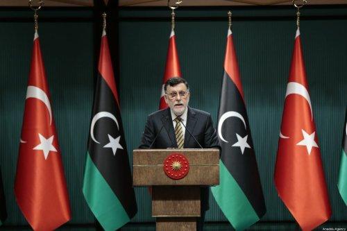 Libyan Prime Minister Fayez al-Sarraj at Presidential Complex in Ankara, Turkey on 4 June 2020. [Metin Aktaş - Anadolu Agency]