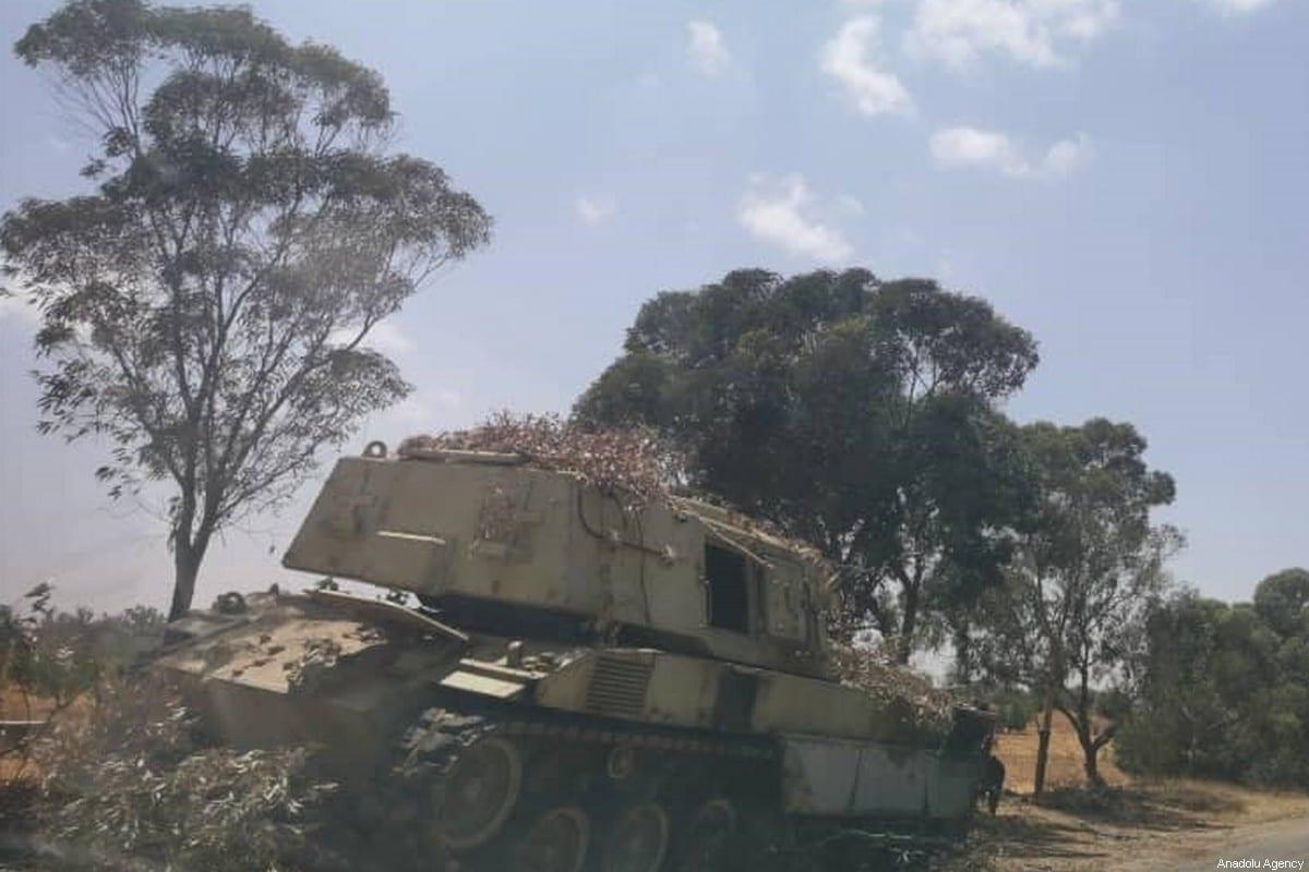 Libyan Army captures ammunition from warlord Khalifa Haftar's militias in Tarhuna, Libya on June 5, 2020. Libyan army seized on Friday weapons, ammunition, and vehicles purchased by the UAE for warlord Khalifa Haftar. [Volcano of Rage Operation / Handout - Anadolu Agency]