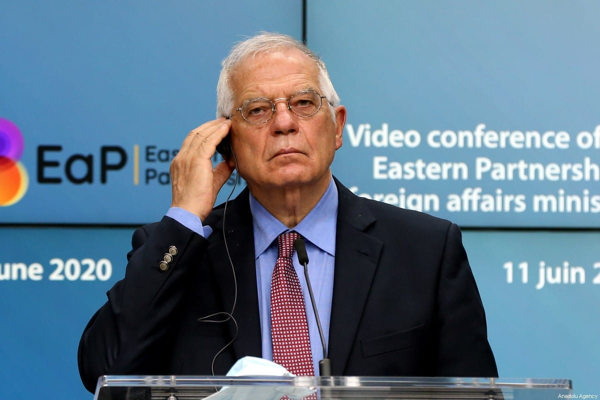 European High Representative of the Union for Foreign Affairs, Josep Borrell at a press conference in Brussels, Belgium on 11 June 2020 [Dursun Aydemir/Anadolu Agency]