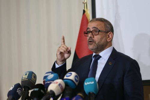Chairman of the High Council of State of Libya Khalid al-Mishri speaks during a press conference in Tripoli, Libya on 24 June 2020. [Hazem Turkia - Anadolu Agency]