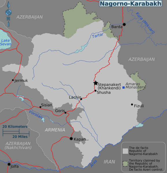 A map of the Republic of Nagorno-Karabakh [Peter Fitzgerald/Wikicommons]