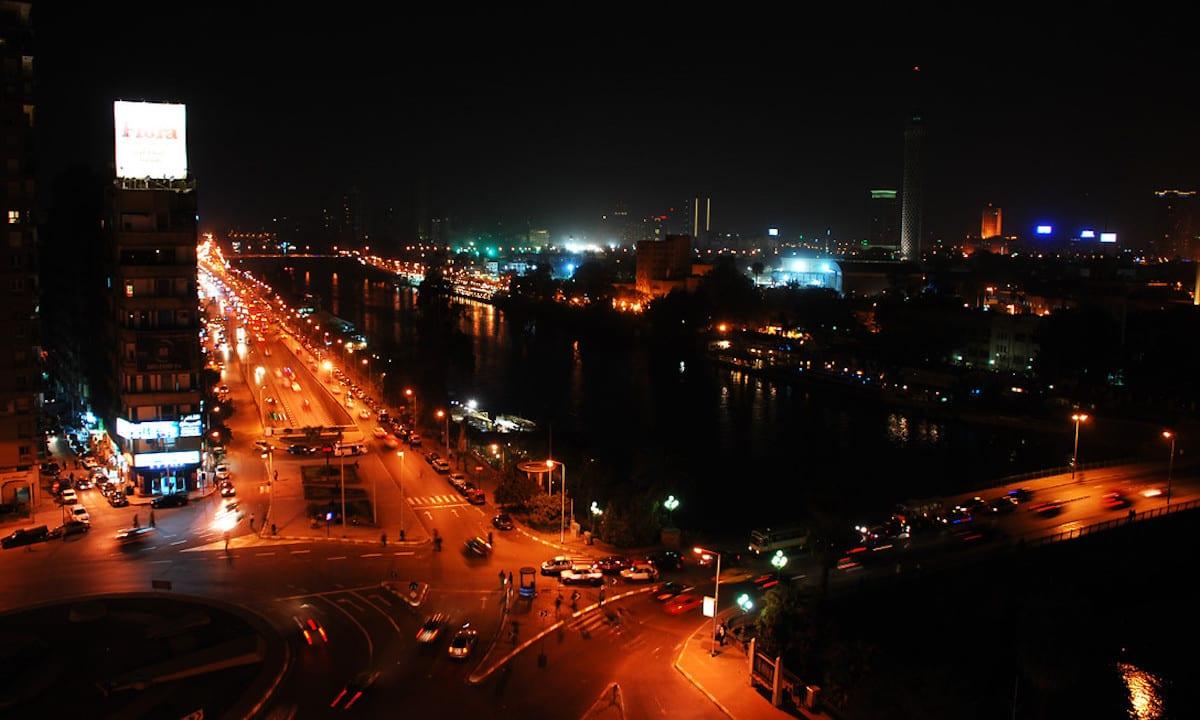 Cairo at night [US Air Force]