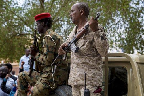 Sudanese security forces in Khartoum, Sudan on 21 July 2020 [Mahmoud Hjaj/Anadolu Agency )