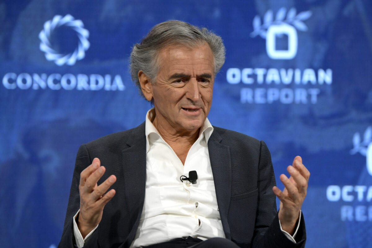 Philosopher, Filmmaker and Activist Bernard-Henri Levy speaks onstage during the 2018 Concordia Annual Summit - Day 1 at Grand Hyatt New York on September 24, 2018 in New York City [Leigh Vogel/Getty Images for Concordia Summit]