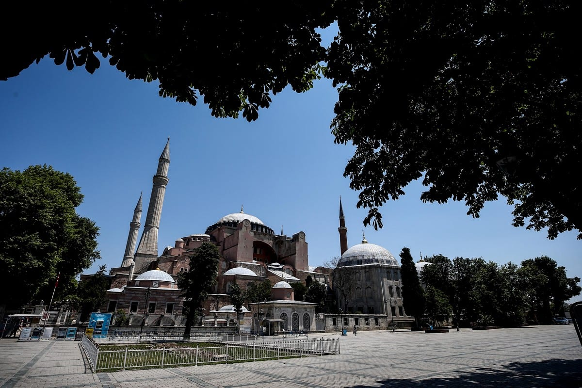 A general view of Hagia Sophia in Istanbul, Turkey on 2 July 2020 [Onur Çoban/Anadolu Agency]