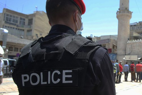 A Jordanian policeman Amman, Jordan on 5 June 2020 [Jordan Pix/Getty Images]