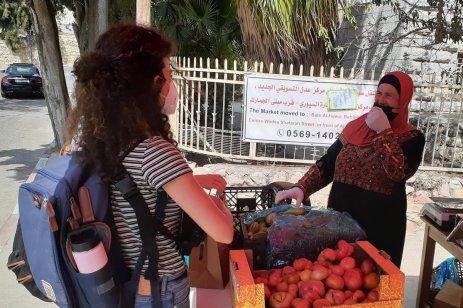 weekly farmers market in Ramallah
