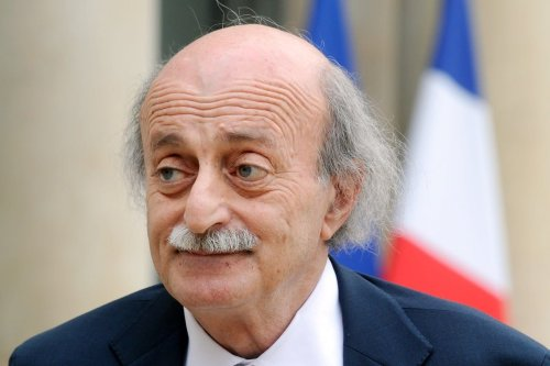 Lebanese Druze leader and Lebanese Progressive Socialist Party (PSP) chairman Walid Jumblatt speaks to the press after his meeting with the French President at the Elysee Palace in Paris on 30 June 2014. [DOMINIQUE FAGET/AFP via Getty Images]