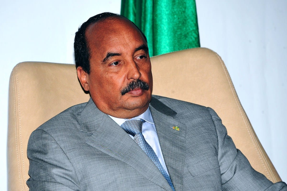 Former Mauritania's President Mohamed Ould Abdel Aziz in Conakry on March 11, 2015 [CELLOU BINANI/AFP via Getty Images]