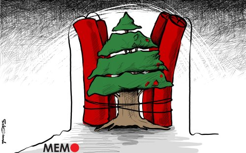 Lebanon is one long tale of disaster and crisis - Cartoon [Sabaaneh/MiddleEastMonitor]