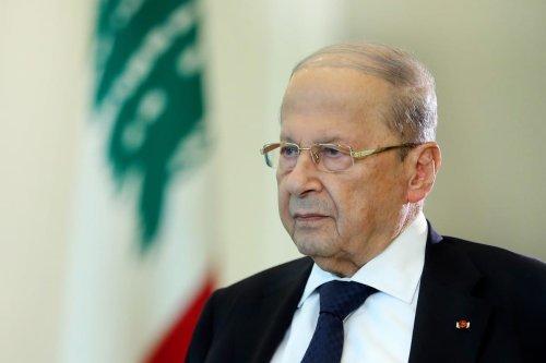 Lebanese President Michel Aoun in Beirut, Lebanon on 16 August 2020 [LEBANESE PRESIDENCY/Anadolu Agency]