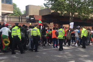 Protest against Ethiopia's Prime Minister in London, UK on 3 July 2020