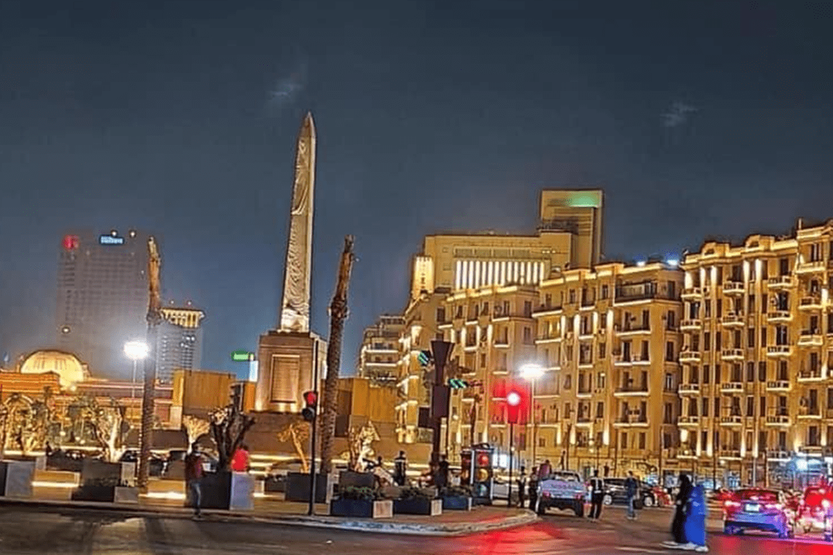 Revamped Tahrir Square in Cairo, Egypt, in August 2020 [Twitter]