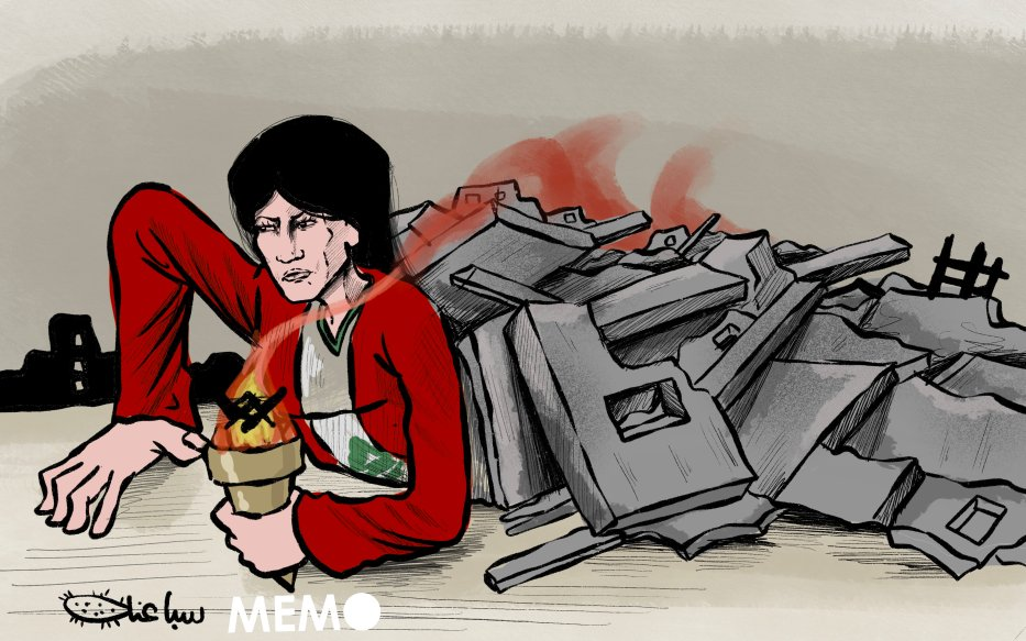 Lebanon will rise up from its ashes - Cartoon [Sabaaneh/MiddleEastMonitor]
