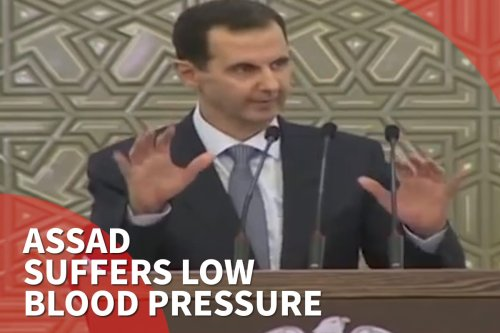 Thumbnail - Assad interrupts parliament speech due to low blood pressure