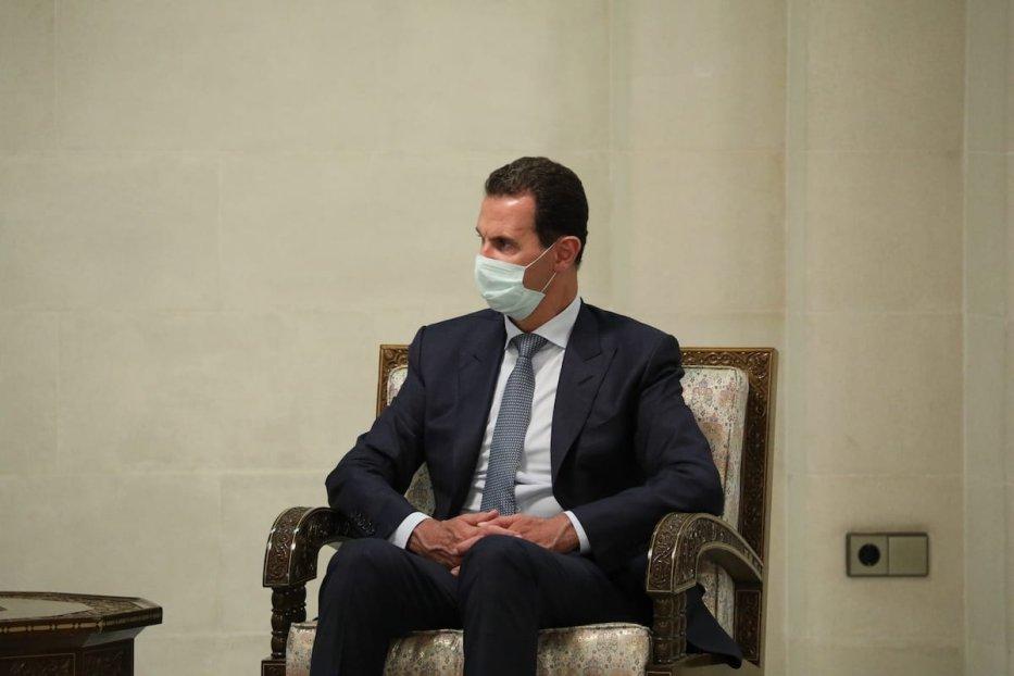 Syrian President Bashar Al-Assad in Damascus, Syria on 7 September 2020 [Russian Foreign Ministry/Anadolu Agency]