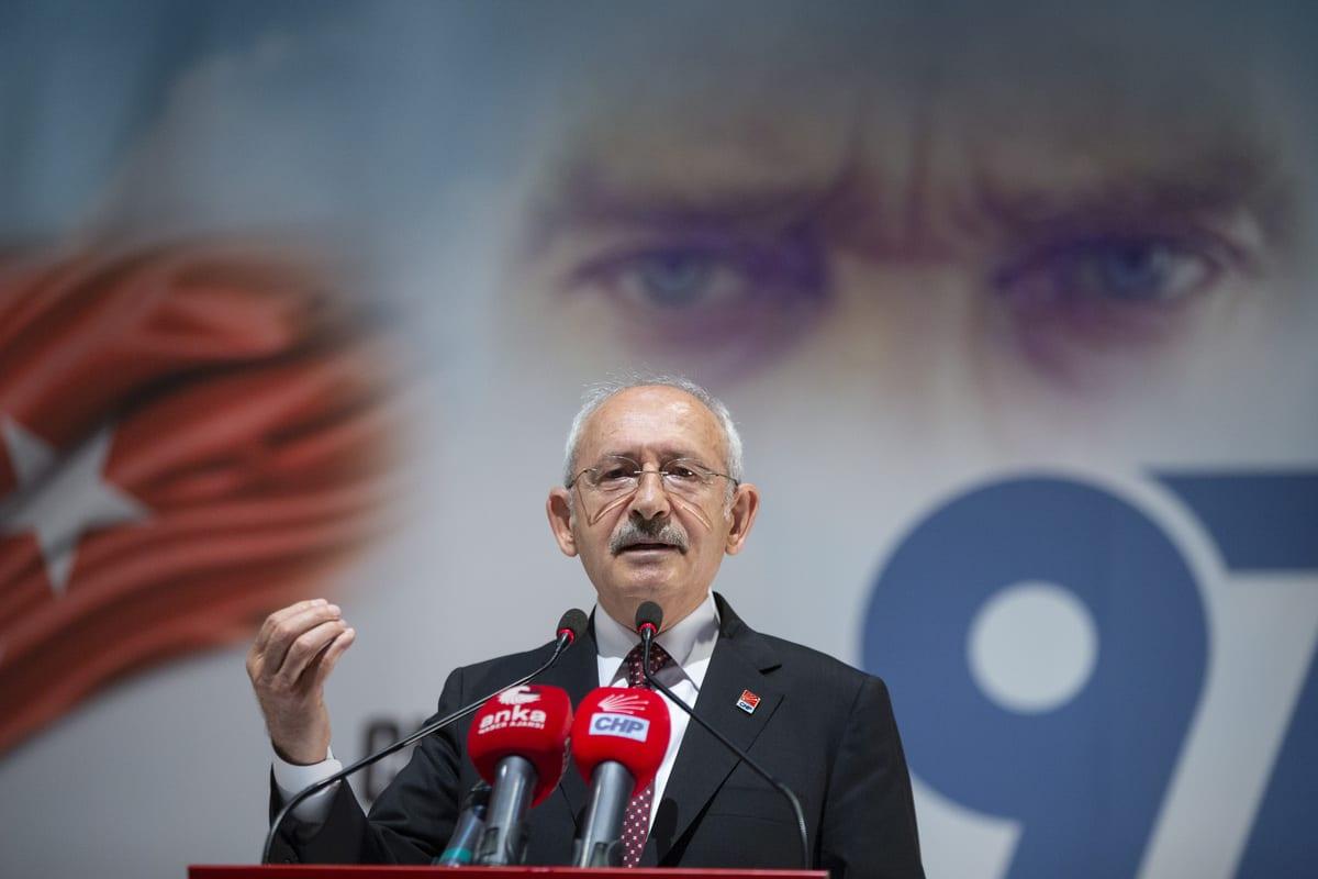 Leader of the Republican People's Party (CHP) Kemal Kilicdaroglu in Ankara, Turkey on 9 September 2020 [Emin Sansar/Anadolu Agency ]
