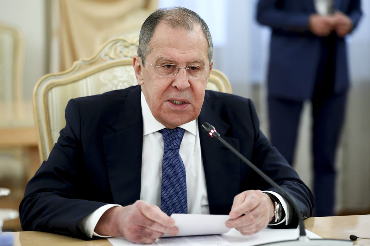 Russian Foreign Minister Sergey Lavrov in Moscow, Russia on September 11, 2020. ( RUS Foreign Ministry - Anadolu Agency )