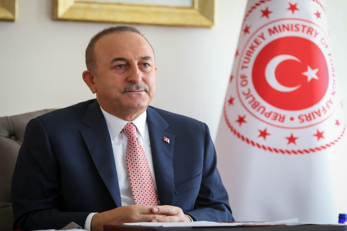 Foreign Minister of Turkey Mevlut Cavusoglu in Ankara, Turkey on 16 September 2020 [Cem Özdel/Anadolu Agency]