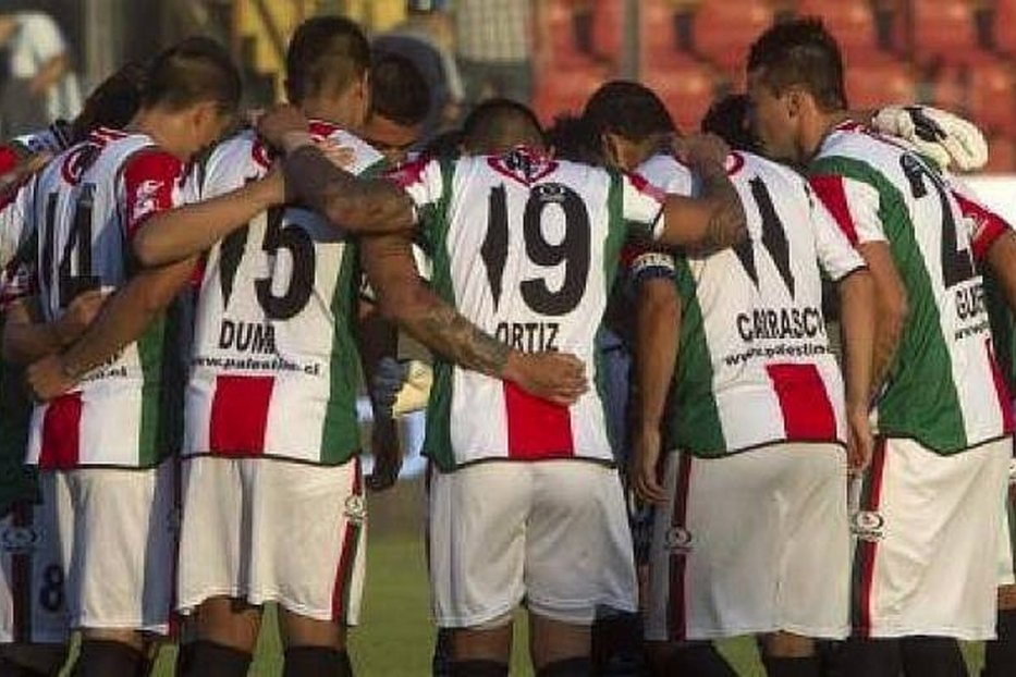 Members of the Club Deportivo Palestino in Chile, 22 September 2020