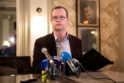 Benjamin Blanchard, director general of the French charity, SOS Chretiens d'Orient (Christians of the Middle East) gives a press conference in Paris on January 24, 2020 [THOMAS SAMSON/AFP via Getty Images]