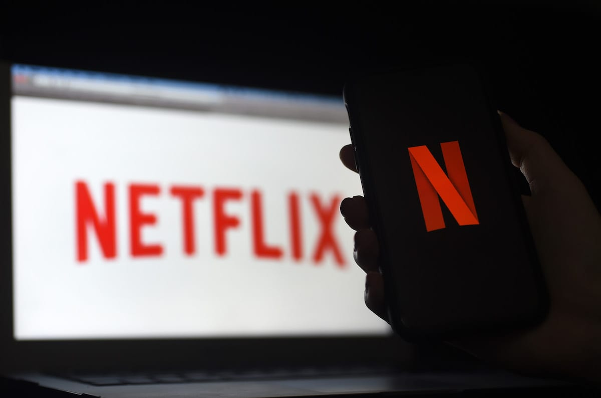 Netflix logo on March 31, 2020 in Arlington, Virginia. [OLIVIER DOULIERY/AFP via Getty Images]