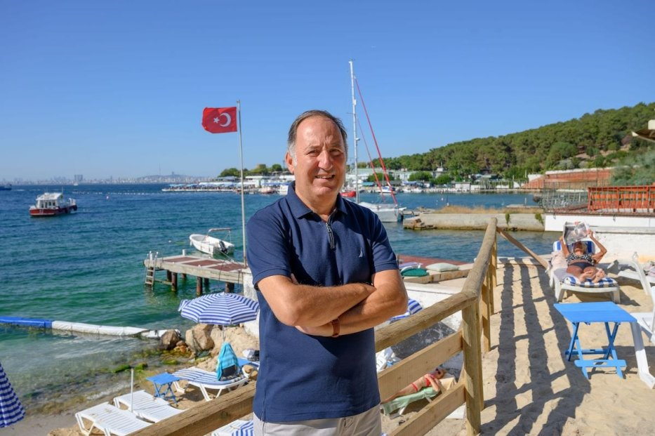 Retired Turkish admiral and author Cem Gurdeniz on 19 August 2020, at Heybeliada, on the Prince Islands in the Sea of Marmara, near Istanbul. [BULENT KILIC/AFP via Getty Images]