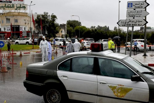 Tunisian forensic police investigate the site of an attack on Tunisian National Guard officers on September 6, 2020, in Sousse, Tunisia [BECHIR TAIEB/AFP via Getty Images]